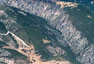 Αεροφωτογραφία φαραγγιού Χράπας